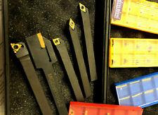Lathe Tool Holder Set 10 Carbide Inserts Emco Cnc Mini Lathes