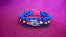 FC BARCELONA Paracord Bracelet Messi  EL CLASICO MIAMI wristband,  MADE IN USA