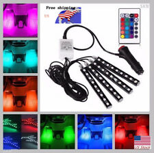 Full Color Glow LED Interior Car Kit Under Dash Foot Well Seats Inside Lighting