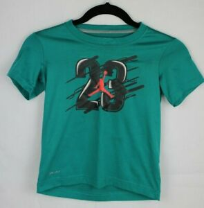 Jordan Dri fit youth kids top tshirt green short sleeve Dri-fit size 7