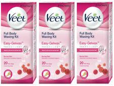 Veet Easy GelWax  Full Body Legs Gel Wax Strips (60 Strips + 12 Wipes) - Normal