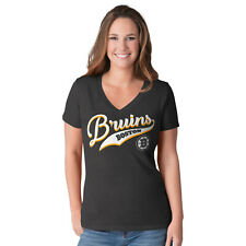G-III 4her Boston Bruins Women's Play Maker V-Neck T-Shirt - Black