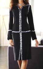 Midnight Velvet PLUS 24W  Black Leopard Washable Crepe Career Church Suit Set