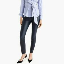 J.crew 00 Collection Navy Leather Legging - Size 00- J8744 $495 NEW
