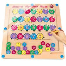 Magnetic Alphabet Maze Board, Uppercase Lowercase Letters Matching Montessori