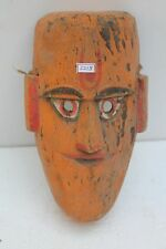 Vintage Old Hand Carved Wooden Folk Tribal Wall Hanging Mask NH2218