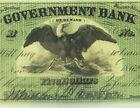 1862 Washington, DC - The Government Bank $5 PMG GEM 65 EPQ CIVIL WAR Era for sale