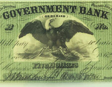 1862 Washington, DC - The Government Bank $5 PMG GEM 65 EPQ CIVIL WAR Era