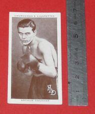 CHURCHMAN CIGARETTES CARD 1938 BOXING PERSONALITIES BOXE ARTHUR DANAHAR