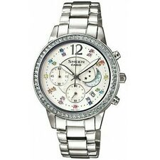 100% Original Sheen Casio SHE-5018D-7A Stainless Steel White