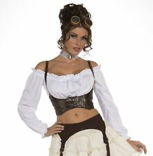 Steampunk Brown Corset Belt Medieval Pirate Gypsy Women's Costume Accessory New