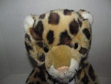 Build A Bear Leopard Cheetah Stuffed Animal Toy World Wildlife Fund BABW Seated