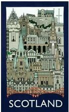 Scotland Landmarks Tea Towel Souvenir Gift Scottish Edinburgh Castle Bridge New