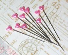 Maya Road Trinket Pins HEARTS Hot Pink Bubblegum 15p Scrapbook Mixed Media DIY