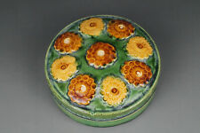 A Fine Collection of Chinese 7thC Tang Sancai Pottery Powder Box