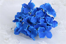 NEW Artificial 5 Heads Bunch Hydrangea cloth Flower head Wedding Home Decor DIY