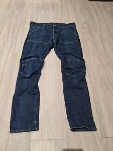 G Star Jeans Herren W33 L32 Blau Hose 5620 3D SL M