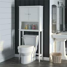 SystemBuild Franklin Over the Toilet Storage Cabinet in Soft White