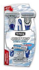 Schick Quattro Titanium Disposable Razors Smooth 3 ct (Pack of 6)