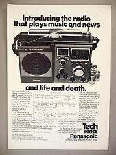 Panasonic Tech 1100 Radio PRINT AD - 1974