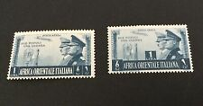 Italian East Africa Sc# C18-C19 Rome-Berlin Axis Complete Set Mint Hinged MH