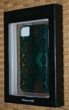 iphone 4 / 4S Case Mate Hard Plastic Greens Black Reptile Skin Style NIB$35 GIFT