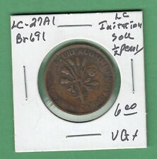 Lower Canada Imitation Sou 1/2 Penny Token - LC-27A1 - VG+