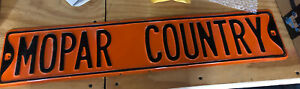 NEW MOPAR COUNTRY METAL SIGN Dodge Chrysler Mopar Plymouth orange muscle car
