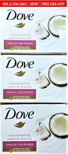 3pk Dove Coconut Milk Purely Pampering Beauty Moisturizing Cream Soap Bar 3.75oz