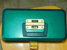 Vintage Umco 133U fishing tackle box with vintage lures
