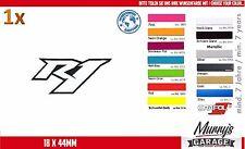 Yamaha r1 18x44mm pegatinas, sticker motocicleta Motorsport autocollat étiquette