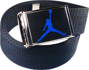 Jordan Jumpman Black Blue Belt Buckle Bottle Opener Adjustable Web Belt