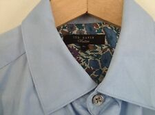 Beautiful Ted Baker - Double Cuff Shirt - Size 15 - 38 Inch Chest