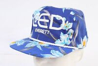 Vintage 90s HAWII HAWAIIAN Print Snapback Trucker Cap Hat DS Mens One Size