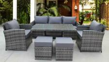 RATTAN WICKER GARDEN OUTDOOR CUBE TABLE AND CHAIRS FURNITURE PATIO DINING SET