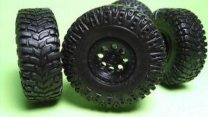 2012 Jeep Rubicon 1/25 Black op Chrome rim wheel beadlock tires 4x4 offroad axle