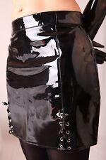 Lack PVC Rock Minirock Lackrock Gothic S M L XL XXL XXXL XXXXL Schwarz L532