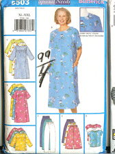 OOP Misses Special Needs Butterick Sewing Pattern Easy Comfort Dressing 5503