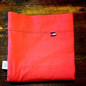 Tommy Hilfiger Twin Flat Sheet ~ Red ~ Cotton