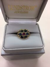 Natural Sapphire 10k Yellow Gold Ring Size 7