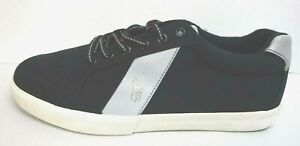 Polo Ralph Lauren Size 10.5 Black Silver Sneakers New Mens Shoes