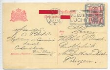 Netherlands Post Card 20/7/1926 12 1/2c Overprinted; Gravenhaag-Bavaria.