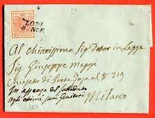 ITALIAN STATES -LOMBARDY VENETIA c.15 from LODI 1850 (2786-c89-15-04-26-100)