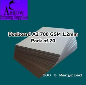 Boxboard A2 700GSM 1.2mm thick Backing Boards  Recycled  - Pack of 20