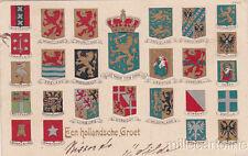 * NETHERLANDS - Een hollandsche Groet - Coats of Arms 1904