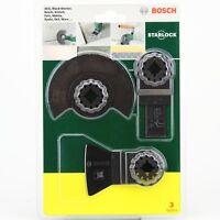 BOSCH ACZ 85 LMT AIZ 20 AB HCS ATZ 52 SC Set of 3 pcs  Bosch 2607017324 Starlock