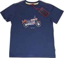 Paul Smith T-Shirt NEU Gr. 6/ 116  blau großes Motorrad-Motiv
