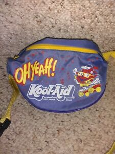 Vintage Kool Aid Man Skateboarding Fanny Pack Zipper Bag Latch Belt 80s/90s