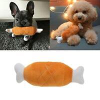 Pet Puppy Plush Toys Chicken Legs Design Small Dogs Chew Squeak Plush Sound Toy