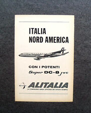 [GCG] M712 - Advertising Pubblicità - 1960 - ALITALIA ,SUPER DC-8 JET,OLIMPIADI